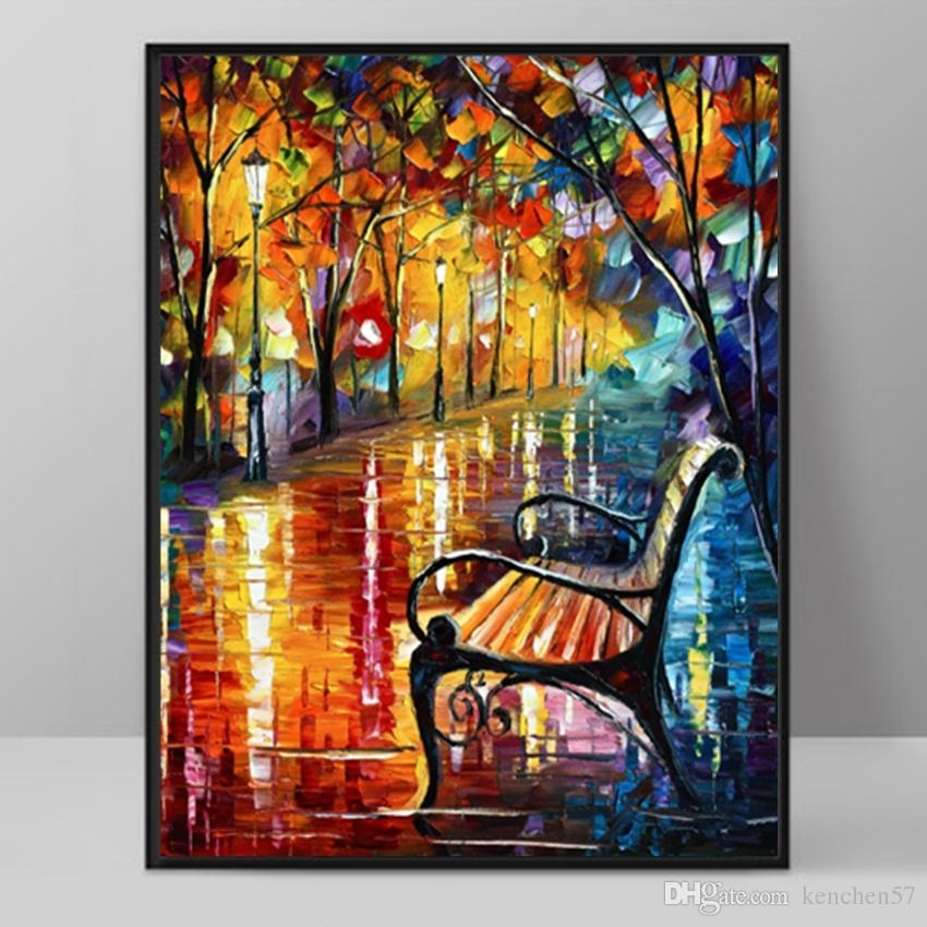 Modern Art Deco Oil Painting Hd Print On Canvas Wall Art Picture In Modern Painting Canvas Wall Art (View 2 of 25)
