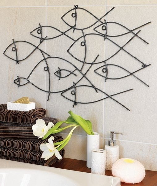 Modern Bathroom Wall Art Models | Decozilla Intended For Wall Art For Bathroom (Image 15 of 20)