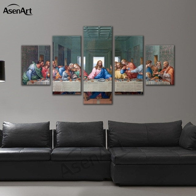 Modern Canvas Wall Art Rectangle Christian The Last Supper Jesus Inside Large Framed Canvas Wall Art (View 17 of 25)