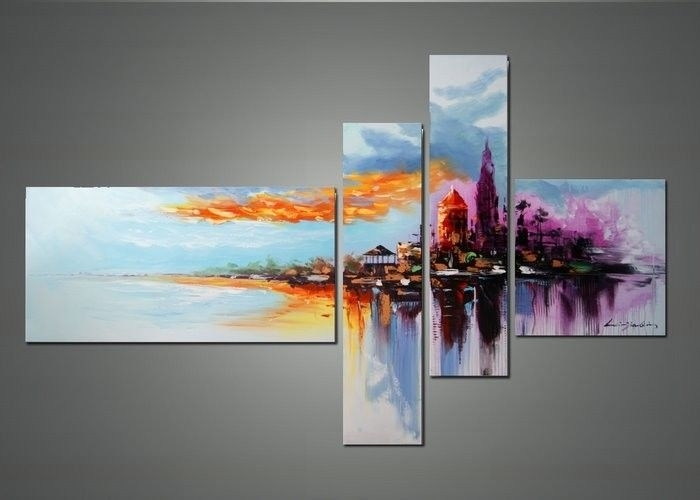 Modern Cityscape Wall Art – Cityscape Abstract Art And Cityscape Oil Regarding Wall Art Paintings (View 10 of 25)