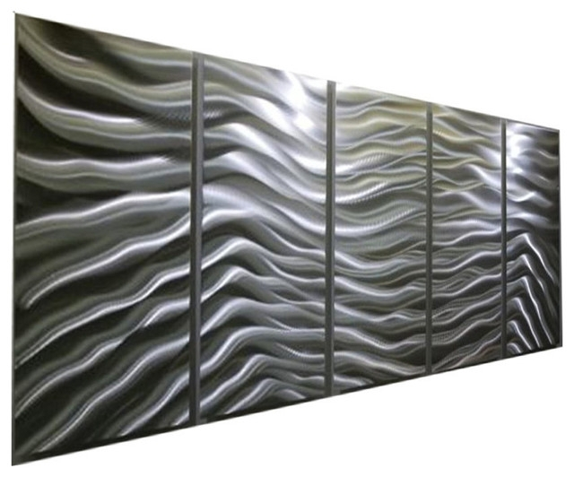 Modern Contemporary Versatile Silver Panel Metal Wall Art, Silver Pertaining To Wall Art Panels (Image 13 of 25)