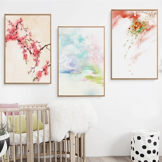 Modern Home Decor Japanese Wall Art Landscape Wall Pictures For For Japanese Wall Art (Image 16 of 20)