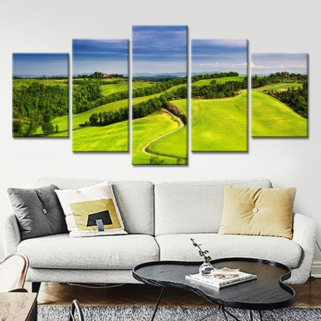 Modern Home Decor Wall Art Frame Poster Hd Printed Painting 5 Pieces for Golf Canvas Wall Art