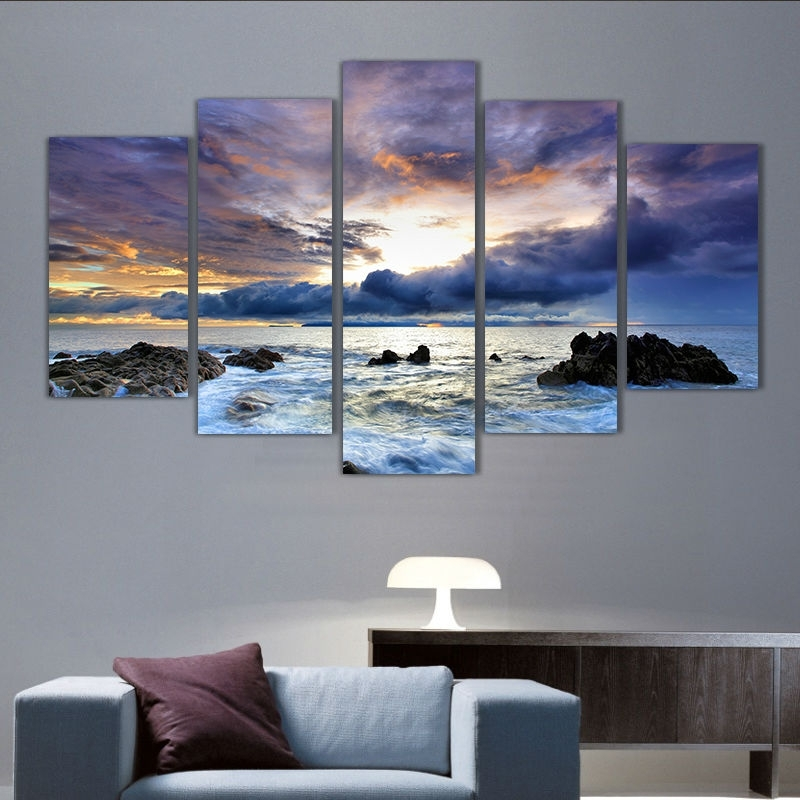 Modern Living Room Bedroom Wall Decor Home Decor Ocean Seascape Wall Within Ocean Wall Art (Image 11 of 25)