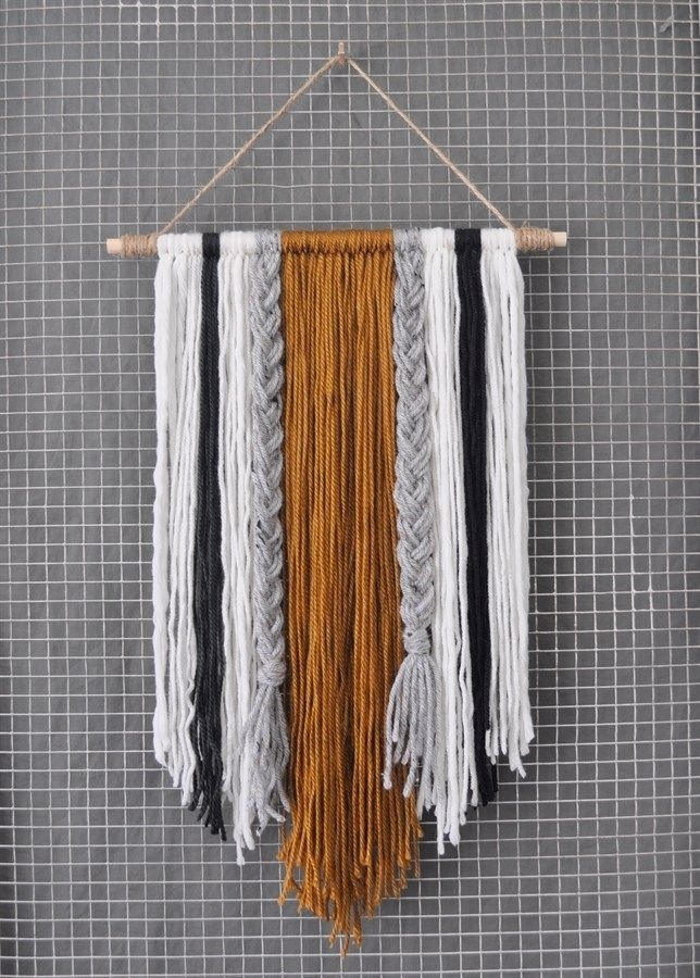 Modern Yarn Wall Hanging | Home & Space | Pinterest | Conversation With Yarn Wall Art (Image 19 of 25)