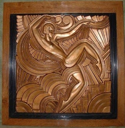 Modernist Bas Relief | Art Deco | Pinterest | Art Deco, Art Deco Art Pertaining To Art Deco Wall Art (View 10 of 25)