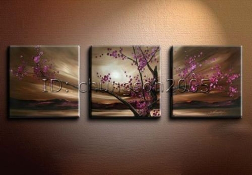 Modrn Flower Canvas Oil Painting Floral Art (+Framed) For Sale With Regard To Floral Canvas Wall Art (View 17 of 25)