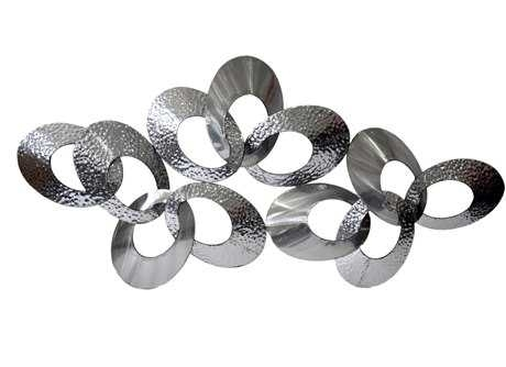 Moe's Home Collection Silver Looped Metal Wall Decor | Memj100930 With Black Metal Wall Art (Image 20 of 25)