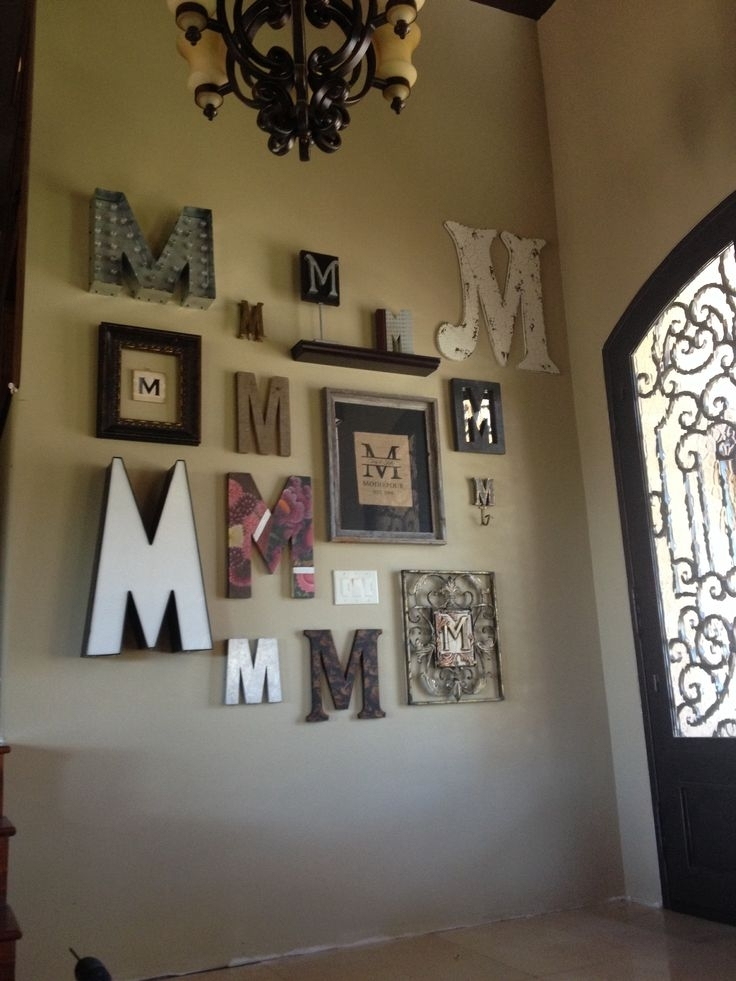 Monogram Letter Wall Decor – Solid.graphikworks (Image 11 of 25)