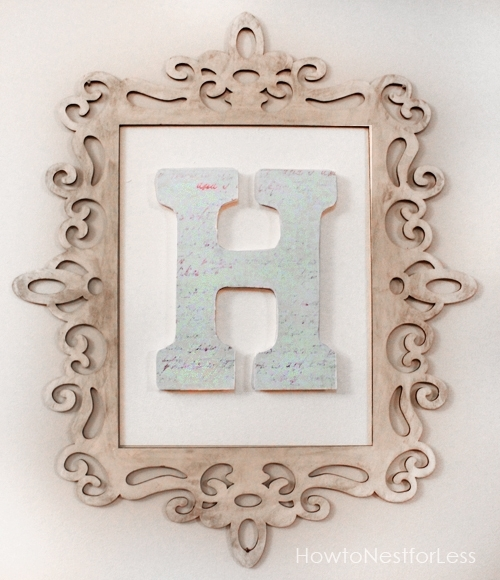Monogram Wall Art – How To Nest For Less™ Pertaining To Monogram Wall Art (Image 12 of 25)
