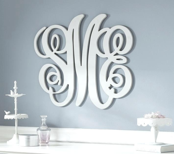 Monogram Wall Decor Metal Monogram Metal Wall Art Monogram Initial Intended For Monogram Wall Art (View 1 of 25)