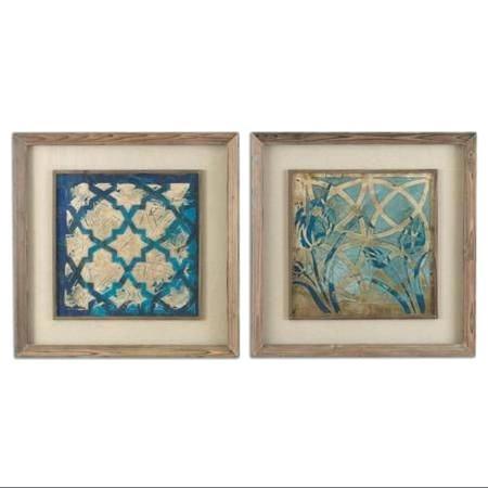 Moroccan Wall Art Canvas Print Moroccan Mosaic Set Wall Decor Pertaining To Moroccan Wall Art (View 11 of 25)