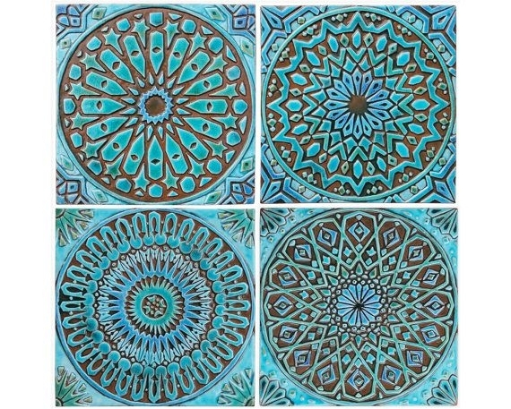 Moroccan Wall Art Made From Ceramic, Outdoor Wall Art, Moroccan Within Moroccan Wall Art (Image 15 of 25)