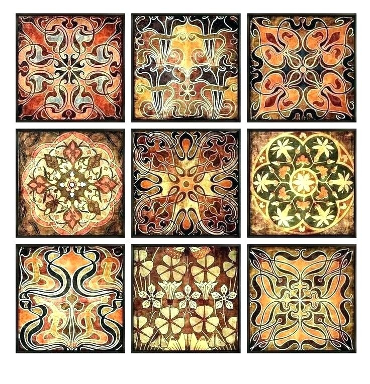 Moroccan Wall Art Wood Wall Art Luxury Wall Art Set Block Set Of 4 In Moroccan Wall Art (View 20 of 25)