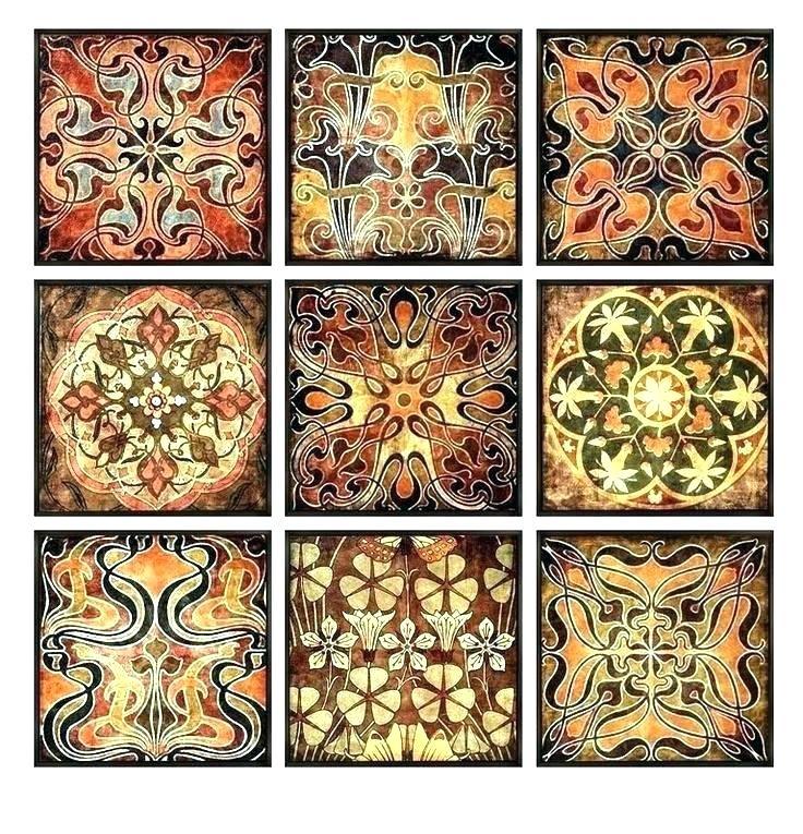 Moroccan Wall Art Wood Wall Art Luxury Wall Art Set Block Set Of 4 In Moroccan Wall Art (View 20 of 25)
