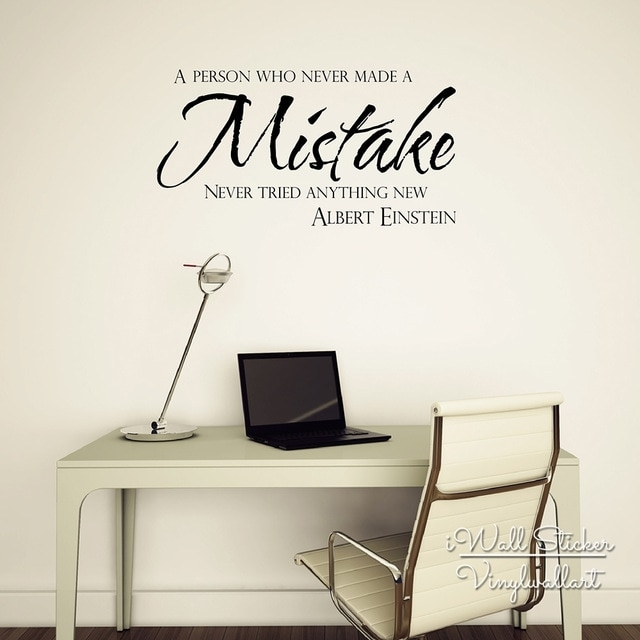 Motivational Quote Wall Sticker Mistakes Quotes Wall Decal Intended For Wall Art Quotes (View 2 of 20)
