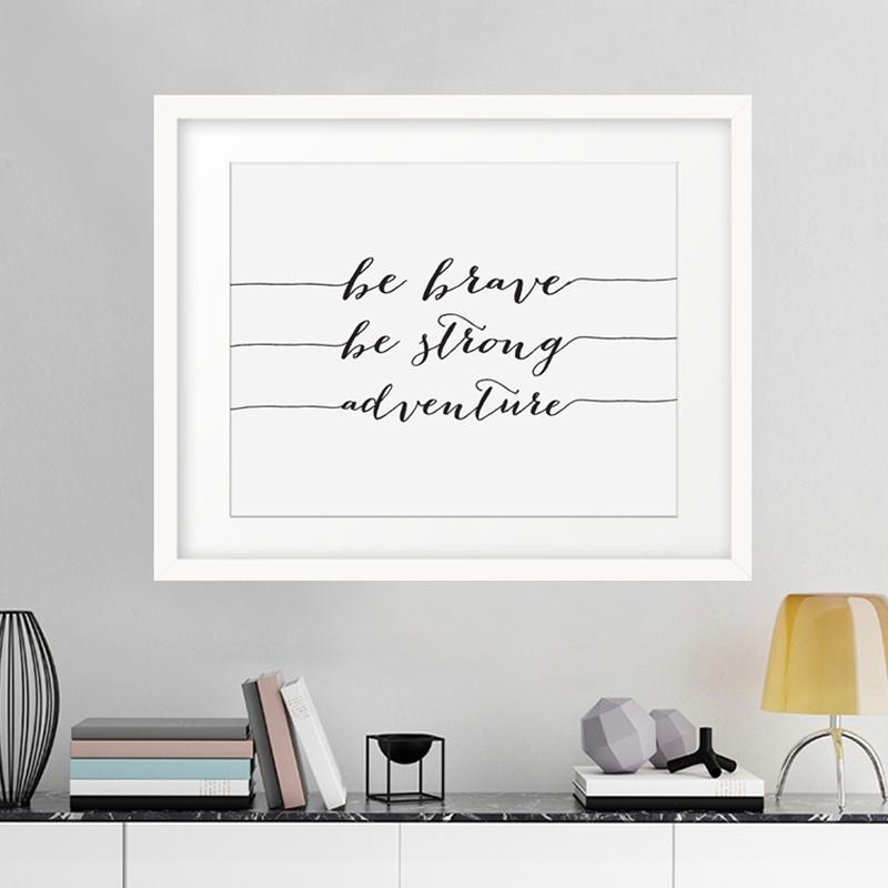 Motivational Wall Art White : Andrews Living Arts – Cool Ideas Inside Motivational Wall Art (View 6 of 25)