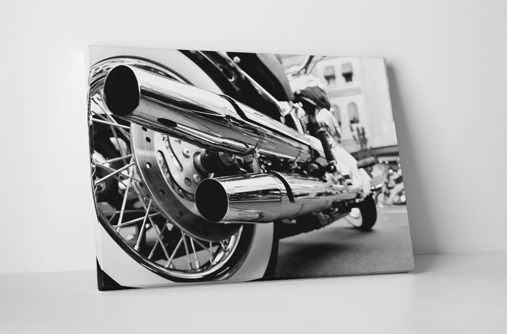 Motorcycle Chrome Pipes Canvas Wall Art For Motorcycle Wall Art (View 10 of 25)