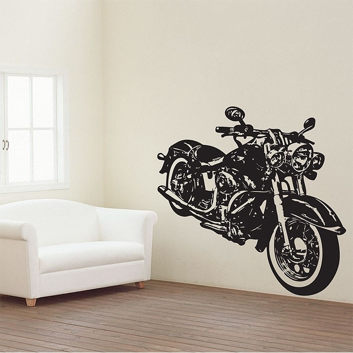 Motorcycle Vector Graphic Vinyl Wall Art Decal Intended For Motorcycle Wall Art (View 3 of 25)