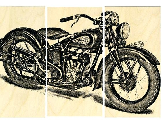 Motorcycle Wall Art Wall Decor Amazon Buy New Vintage Art Painting Inside Motorcycle Wall Art (Image 18 of 25)