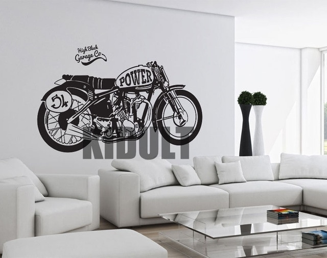 Motorcycle Wall Stickers Vinyl Creative Plane Wall Painting Regarding Motorcycle Wall Art (Image 20 of 25)