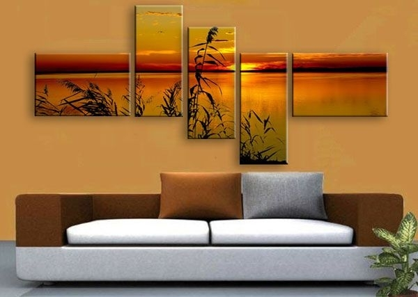 Multi Panel Canvas Print.split One Photo Into Five Panels (Image 14 of 25)