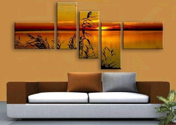 Multi Panel Canvas Print.split One Photo Into Five Panels (Image 14 of 25)