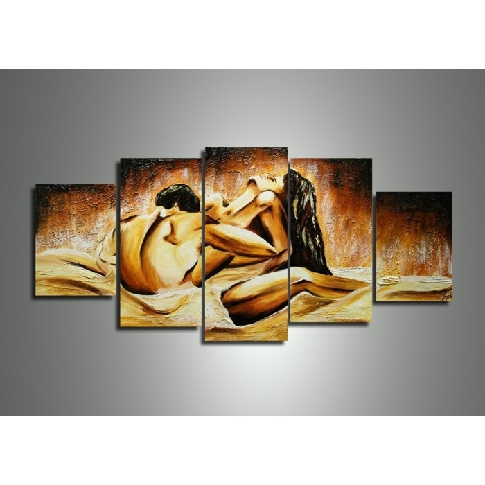 Multi Panel Sensual Wall Art Painting 402 – 60 X 32In In Multi Panel Wall Art (View 4 of 10)