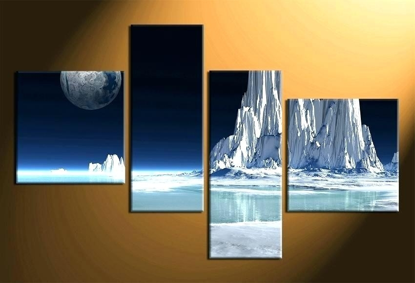 Multiple Piece Canvas Wall Art Stylish And Peaceful Multi Panel Wall Intended For Multi Piece Wall Art (View 12 of 20)