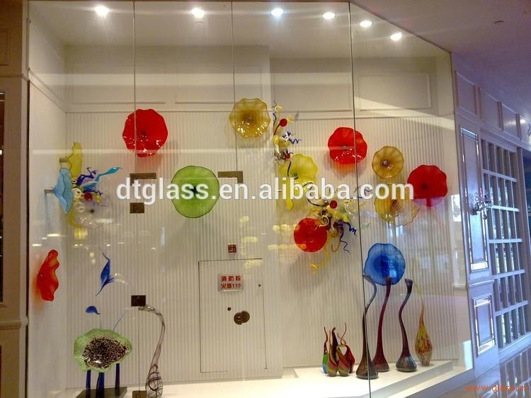 Murano Hand Blown Glass Plates For Wall Art Decoration – Buy Wall Throughout Blown Glass Wall Art (Image 21 of 25)