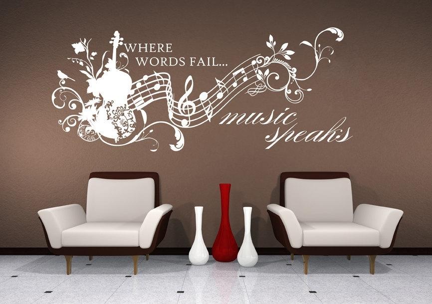 Music Wall Decals Fancy Music Wall Art – Wall Decoration Ideas Regarding Music Wall Art (View 5 of 10)