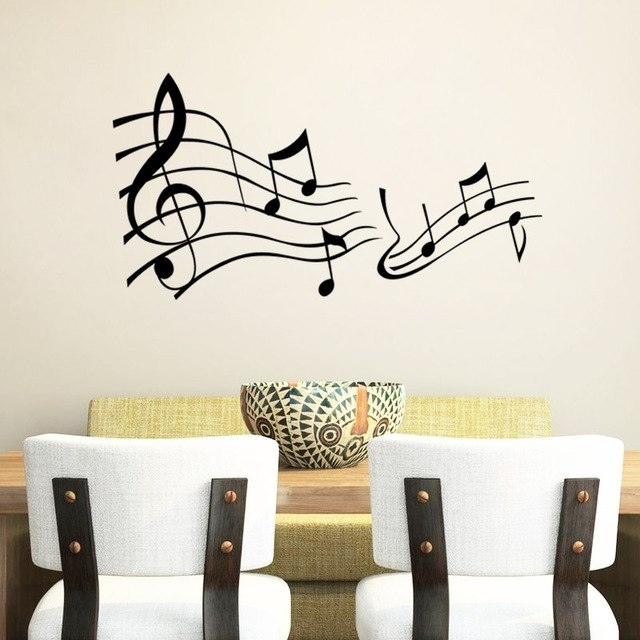 Music Wall Say Quote Word Lettering Art Vinyl Sticker Decal Home In Word Wall Art (Image 10 of 20)