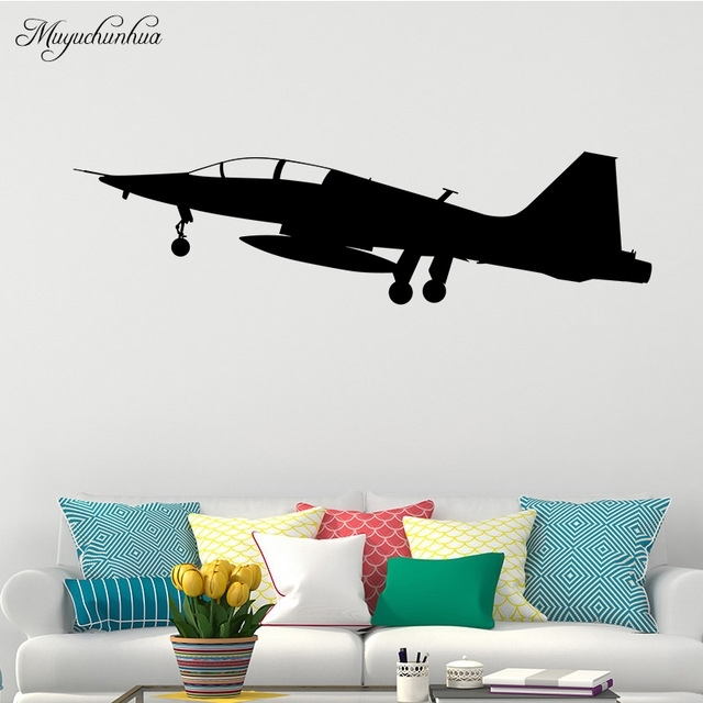 Muyuchunhua Military Aviation Wall Stickers For Home Decor Kids Room Intended For Aviation Wall Art (View 14 of 25)