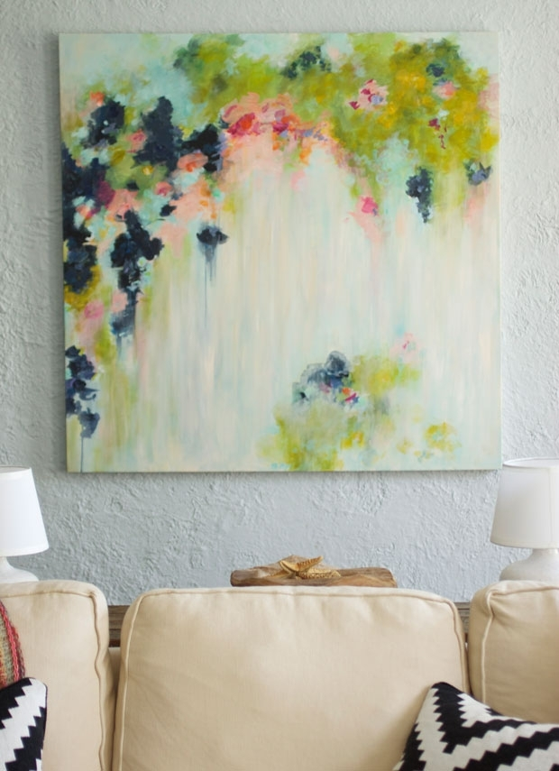 My Diy Abstract Art And New Shower Curtain Fabric In Shower Curtain Wall Art (Image 20 of 25)