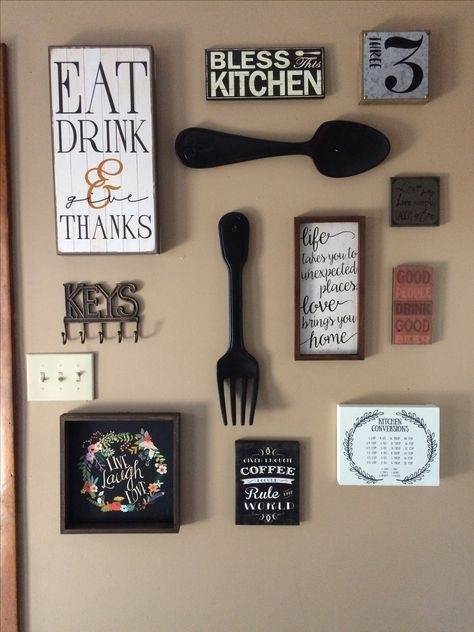 My Kitchen Gallery Wall (View 12 of 20)