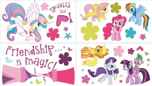 My Little Pony 37 Big Wall Decals Ponies Room Decor Stickers Regarding My Little Pony Wall Art (View 16 of 20)