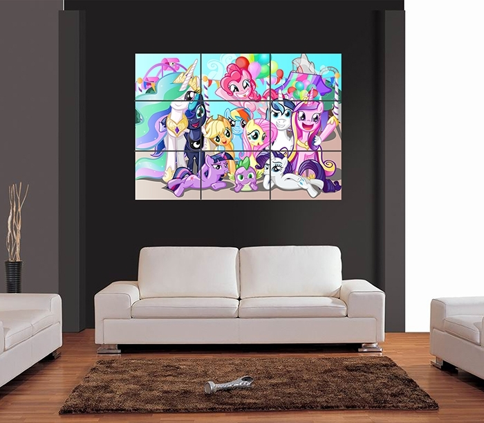 My Little Pony Giant Wall Art Print Picture Poster | Ebay With My Little Pony Wall Art (View 2 of 20)