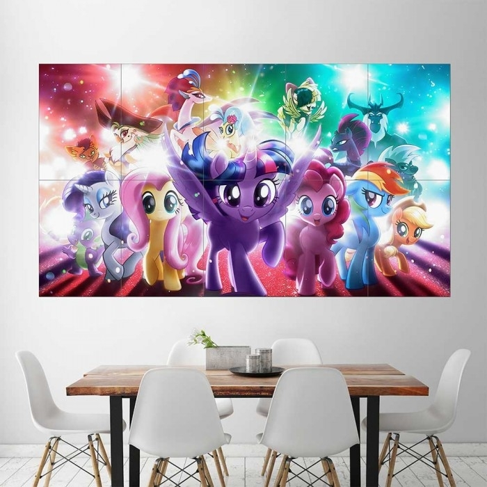 My Little Pony The Movie Block Giant Wall Art Poster Regarding My Little Pony Wall Art (View 14 of 20)
