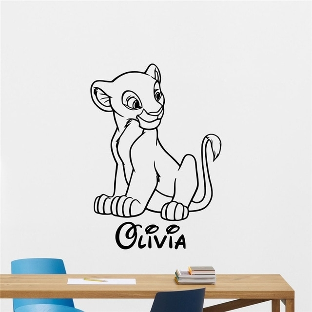 Nala Custom Name Decal Wall Sticker Lion King Wall Art Home Decor In Lion King Wall Art (View 5 of 25)