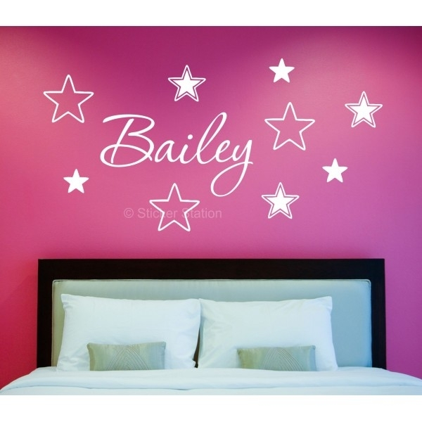 Name In Stars Personalised Wall Art Sticker – Sticker Station For Name Wall Art (View 20 of 25)