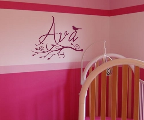 Name Wall Art Cute Name Wall Art – Wall Decoration Ideas Inside Name Wall Art (View 13 of 25)