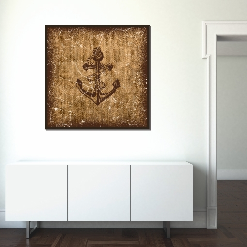 Nautical Anchor Canvas Wall Art 24×24 | Trendy Wall Squares Within Anchor Wall Art (View 23 of 25)