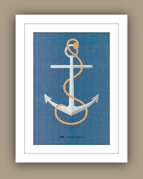 Nautical Childrens Wall Art13Westdesign – Etsy Pertaining To Anchor Wall Art (View 4 of 25)