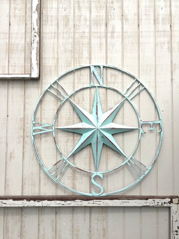 Nautical Compass Wall Art, Nautical Decor, Nautical Wall Art Intended For Nautical Wall Art (Image 5 of 10)