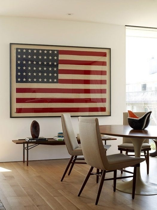 Neoteric Ideas Vintage American Flag Wall Art Layout Design For Vintage American Flag Wall Art (Image 15 of 25)