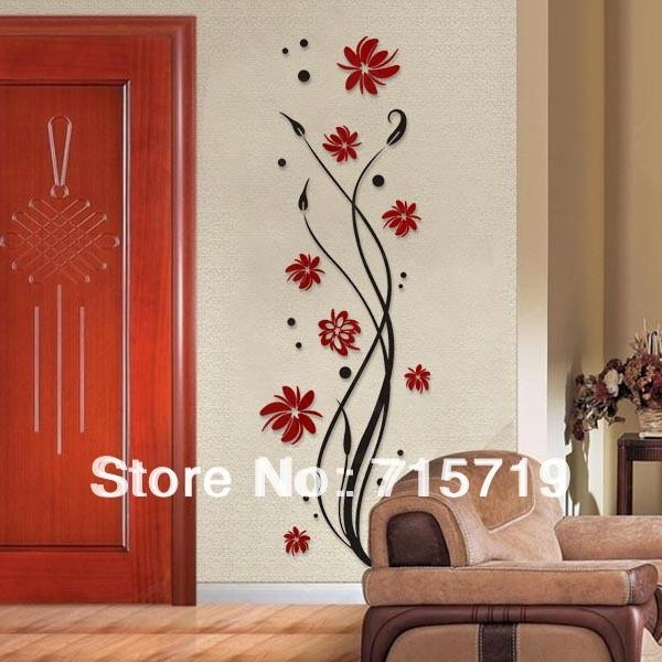 New 2014 Style 3D Best Acrylic Pant Wall Art Sticker Decor Crystal Intended For Acrylic Wall Art (Image 21 of 25)