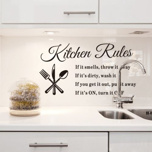 New 2015 Quotes Wall Sticker Kitchen Rules Wall Stickers Sayings And With Wall Art Sayings (Image 11 of 25)