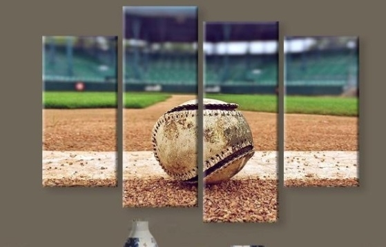 New 5 Pieces/sets Canvas Art Canvas Paintings Hd Baseball Stadium Within Baseball Wall Art (Image 18 of 25)