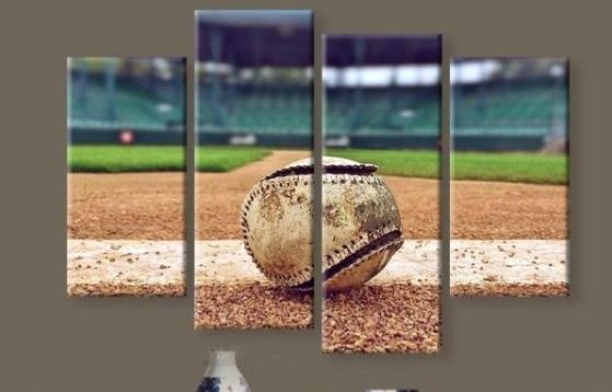 New 5 Pieces/sets Canvas Art Canvas Paintings Hd Baseball Stadium within Baseball Wall Art