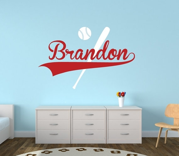 New Baseball Wall Decor Interior Designing Home Ideas Personalized Throughout Baseball Wall Art (Image 19 of 25)